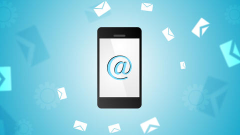 Mobile phone and emails video animation Animation