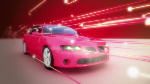 Abstract Car CG動画素材