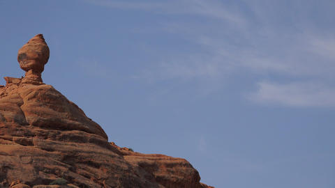 Pan of a Rock Formation in Arches National Park Live Action