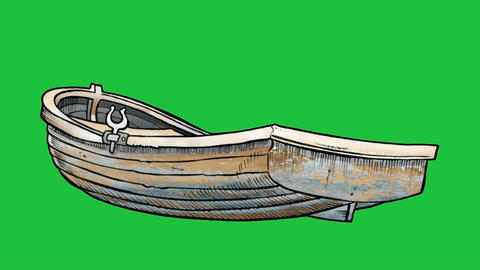 nimated Rowboat on Green Screen: Matte + Looping Animation