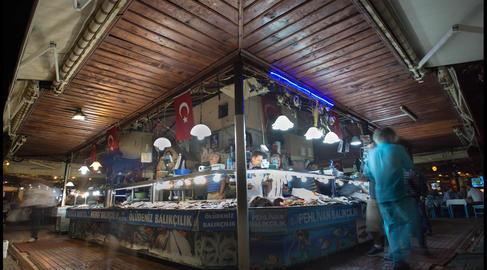 Fethiye Fish Market Timelapse stock footage