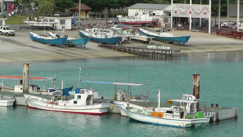 Port in Ishigaki Okinawa 40 Stock Video Footage