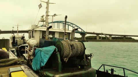 Port in Ishigaki Okinawa stylized 01 Stock Video Footage
