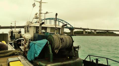 Port in Ishigaki Okinawa stylized 01 Footage