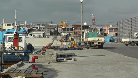Port in Okinawa Islands 09 Stock Video Footage