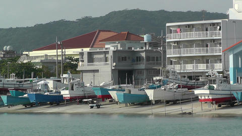 Port in Okinawa Islands 11 Stock Video Footage