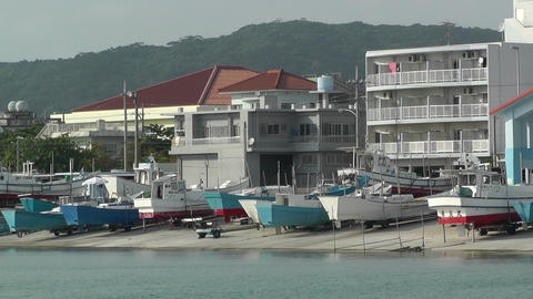 Port in Okinawa Islands 11 Footage