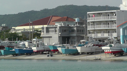 Port in Okinawa Islands 11 Stock Video Footage