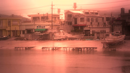 Port in Okinawa Islands stylized 01 Footage