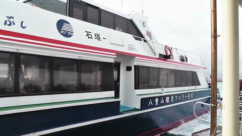 Port of Taketomi Island in Okinawa 06 Stock Video Footage