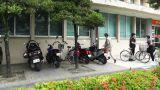 Post Office in Okinawa Islands handheld Footage