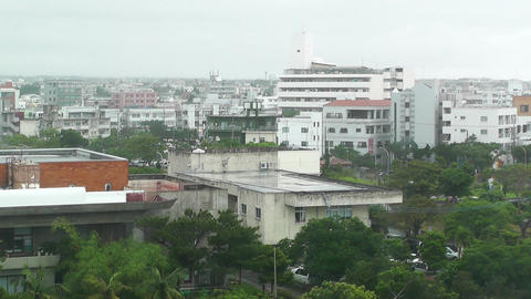 Rainy Day in Okinawa 02 Stock Video Footage