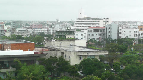 Rainy Day in Okinawa 02 Footage