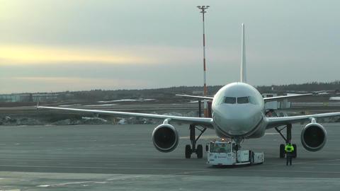 Rossyia Airlines at Helsinki Vantaa Airport 01 handheld Stock Video Footage