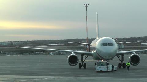 Rossyia Airlines at Helsinki Vantaa Airport 01 handheld Footage