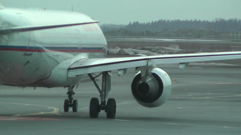 Rossyia Airlines at Helsinki Vantaa Airport 03 handheld Stock Video Footage