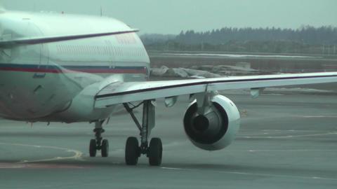 Rossyia Airlines at Helsinki Vantaa Airport 03 handheld Stock Video Footage