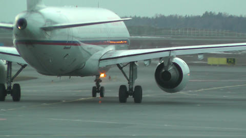 Rossyia Airlines at Helsinki Vantaa Airport 03 handheld Footage
