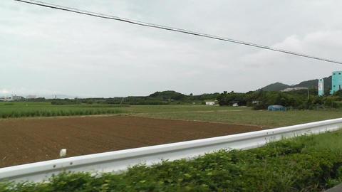 Rural Japan in Okinawa Islands 19 car handheld Stock Video Footage