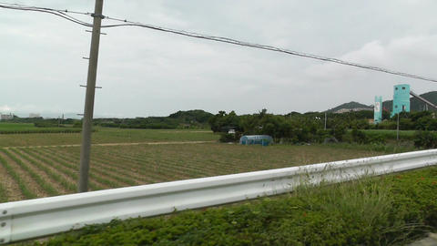 Rural Japan in Okinawa Islands 19 car handheld Footage