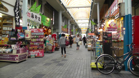 Rural Japanese Market in Okinawa Islands 01 Stock Video Footage