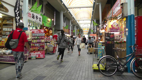 Rural Japanese Market in Okinawa Islands 01 Stock Video Footage