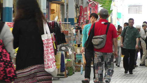 Rural Japanese Market in Okinawa Islands 03 Stock Video Footage