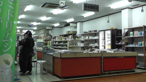 Rural Japanese Market in Okinawa Islands 09 Stock Video Footage