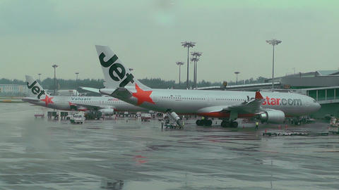 Singapore Changi Airport 01 jetstar Footage