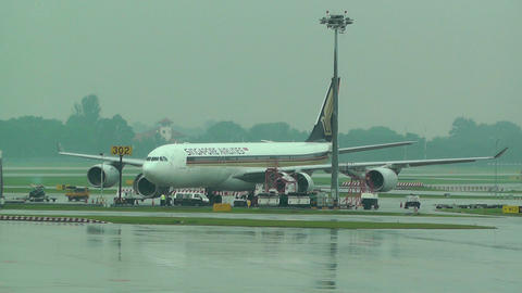 Singapore Changi Airport 05 singapore airlines Footage