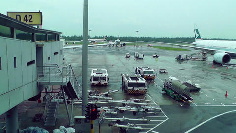 Singapore Changi Airport 07 Stock Video Footage