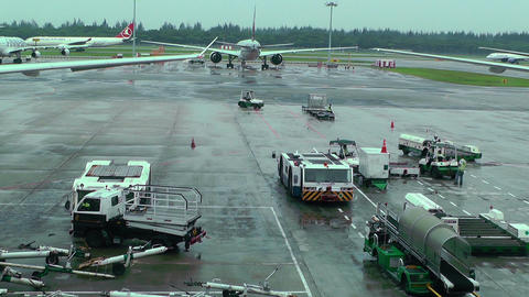 Singapore Changi Airport 13 Stock Video Footage