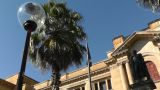 Sir Richard Bourke Monument And State Library Of New South Wales Lowangle stock footage
