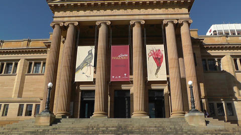 State Library of New South Wales Australia Stock Video Footage