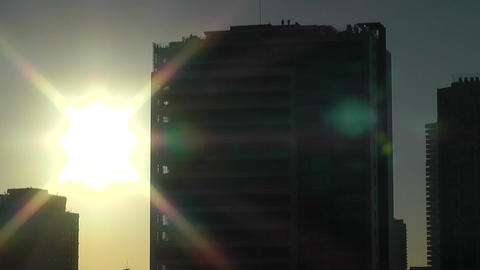 Sunrise and Skyscrapers Stock Video Footage