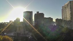Sydney Anzac Memorial in Hyde Park Sunrise 02 Footage