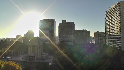 Sydney Anzac Memorial in Hyde Park Sunrise 02 Stock Video Footage