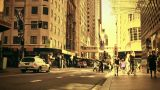 Sydney Cambridge Street 70s old film stylized Footage