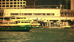 Sydney Circular Quay Port 70s old film stylized 03 Stock Video Footage