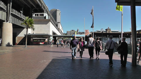 Sydney Circular Quay Station 01 Stock Video Footage