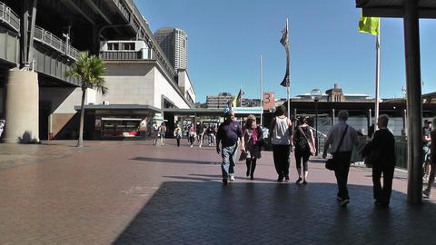 Sydney Circular Quay Station 01 Stock Video Footage