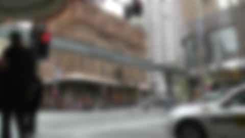 Sydney Downtown George Street 03 60fps native slowmotion blurred Footage