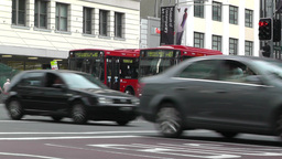 Sydney Downtown George Street 04 traffic Stock Video Footage