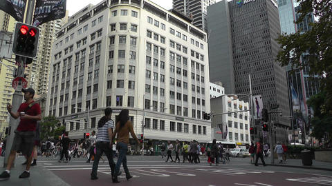 Sydney Downtown George Street 06 traffic Stock Video Footage