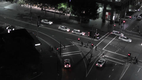 Sydney Elizabeth Street Liverpool Street at Night 01... Stock Video Footage