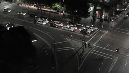 Sydney Elizabeth Street Liverpool Street at Night 01 timelapse Footage