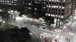 Sydney Elizabeth Street Liverpool Street at Night 03 Footage