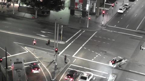 Sydney Elizabeth Street Liverpool Street at Night 05... Stock Video Footage