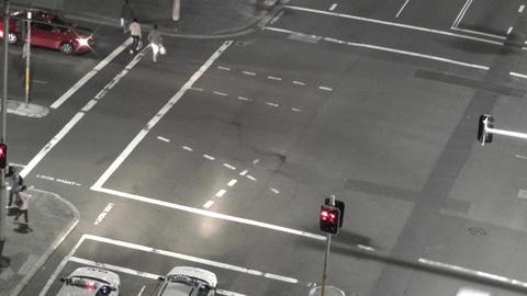 Sydney Elizabeth Street Liverpool Street at Night 07... Stock Video Footage