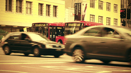 Sydney George Street 70s old film stylized 03 Stock Video Footage